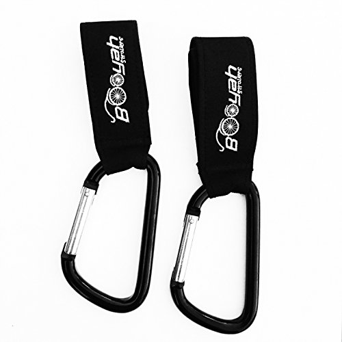 2 Stroller Hooks Carabiner by Booyah Strollers