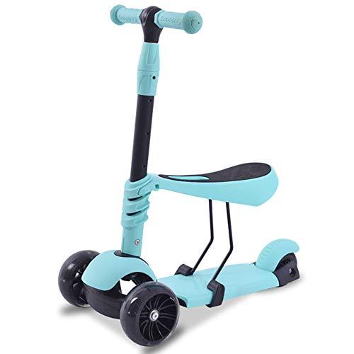 Changsheng El Scooter para niños con Ruedas de Destello,Andador Plegable y elevable es Adecuado para niños de 2 a 8 años