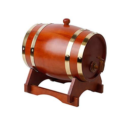 Risareyi Roble del barril de vino, 1.5L de madera de roble barril de vino de la cosecha for el almacenamiento de la cerveza puerto whisky ron vino dispensador (Color : 5)