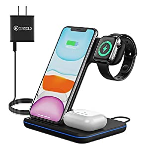 Wireless Charger 3 In 1 Qi Charger For Apple Watch 1 2 3 4 5airpods Wireless Charger For Iphone 1111 Pro11 Pro Maxxs Maxxs Xr Plus