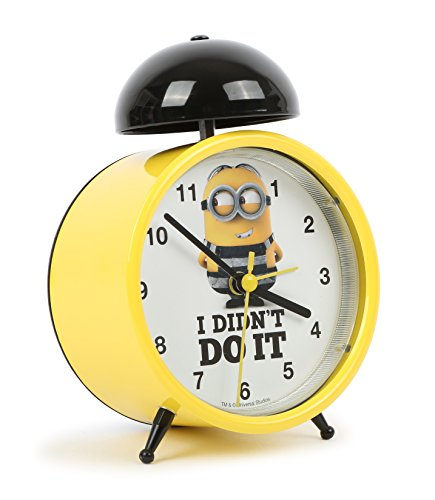 Joy Toy Minions Wecker Analog Metall Gelb, 1