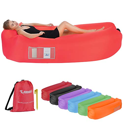 EDEUOEY Inflatable Lounger Air Sofa: Waterproof Beach Travel...