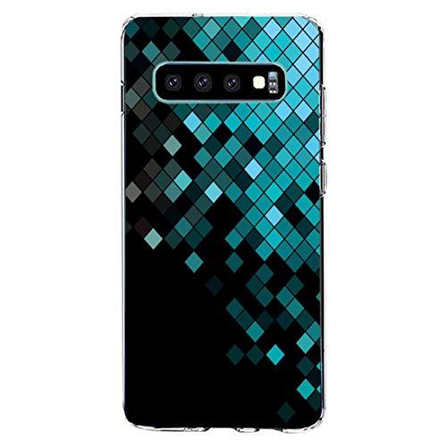 kkkie kompatibel mit Galaxy S10 Hülle Transparent Silikon Case TPU Bumper für Galaxy S10 plus Schutzhülle Marmor Blumen Muster HandyHülle für Galaxy S10e (12, Galaxy S10)