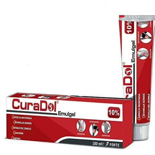 CuraDol Emulgel 10% forte crema antidolorifica a base di arnica boswellia artiglio del...