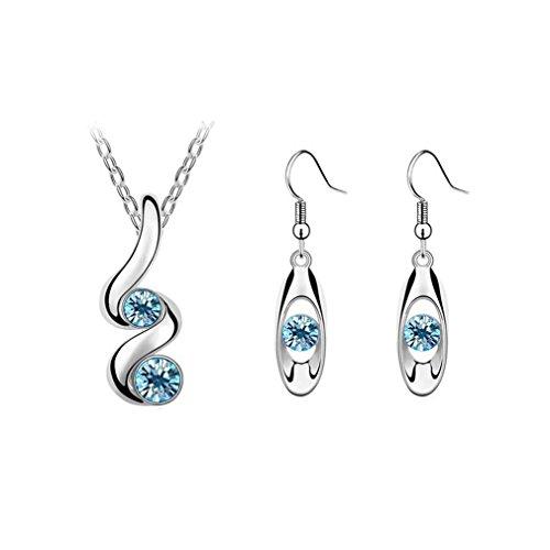GYJUN Bijoux Colliers décoratifs/Boucles d'oreille Mariage/Soirée/Décontracté Cristal/Alliage 1set, blue