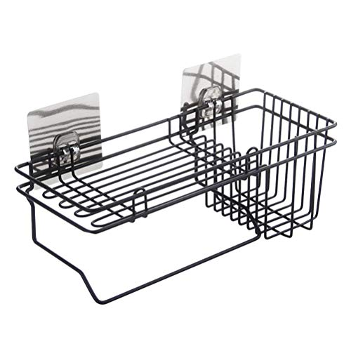 Flower Stand Hanging Wire Storage Basket Organizer Container Drain Rack Kitchen Organizer for Sponge Dishcloth Shelf Rack Drainer