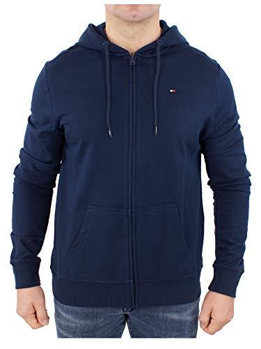 Tommy Hilfiger Jacke Sweatjacke Herren Hoodie FZ LWK Gr. XL Blau