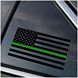 Thin Green Line Military and Ranger Support Vinyl Car Window Decal Sticker