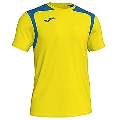 Camiseta Champion V, Color Amarillo/Azul Royal