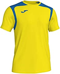 Camiseta Champion V, Color Amarillo/Azul Royal