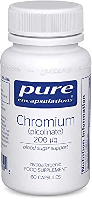 Pure Encapsulations - Chromium Picolinate 200 mcg - Hypoallergenic Support for Promoting Carbohydrate Catabolism and Weight Maintenance - 60 Capsules