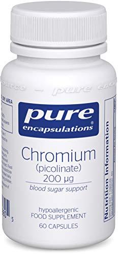 Pure Encapsulations - Chromium Picolinate 200 mcg - Hypoallergenic Support for Promoting Carbohydrate Catabolism & Weight Maintenance - 60 Capsules