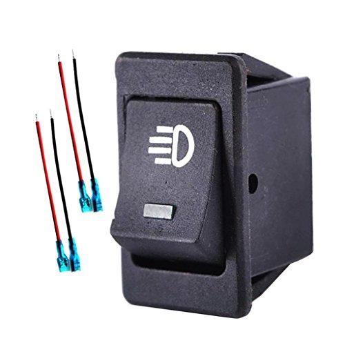 balikha Interruptor Basculante Iluminado con LED Azul 12V Encendido/Apagado para Luces Antiniebla