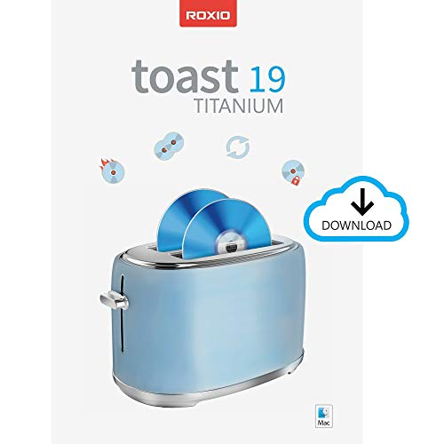 Roxio Toast 19 Titanium | CD & DVD Burner for Mac | Disc Burning, File Conversion, Multimedia Suite [Mac Download] [Old Version]