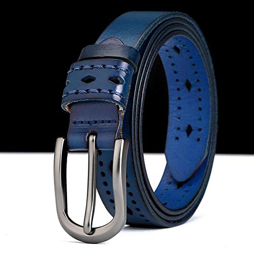 HAIPAITX Nouveau Design Quality LadiesFemale Hollowed Belt Ceintures rétro Styles pour Femmes ,Blue,110cm 32to33 inch