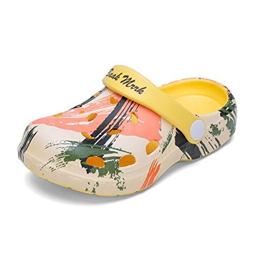 Niños Sandalias Y Zapatillas Bebé Niño Verano Niños Y Niñas Sandalias Suave Sandalias Ligeras Niños Calzado para Jardín,Amarillo,18