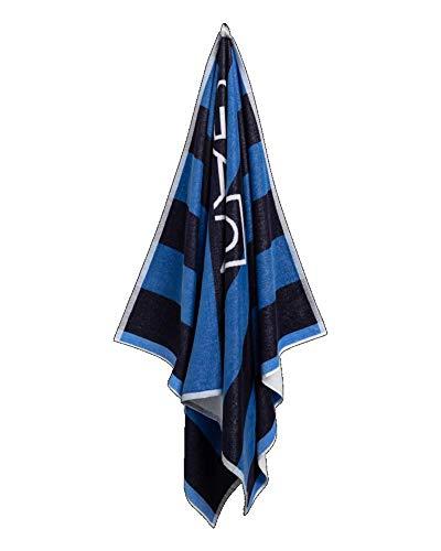 GANT Toalla de playa con diseño de rugby (100 x 180 cm), color azul