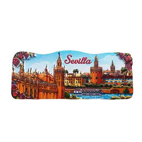 3D Sevilla Spanien Kühlschrank Kühlschrankmagnet Tourist Souvenirs Handgemachte Harz Handwerk Magnetische Aufkleber Home Küche Dekoration Reise Geschenk