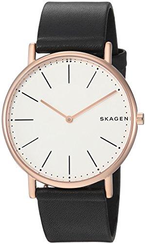 Skagen Herren Analog Quarz Uhr mit Leder Armband SKW6430