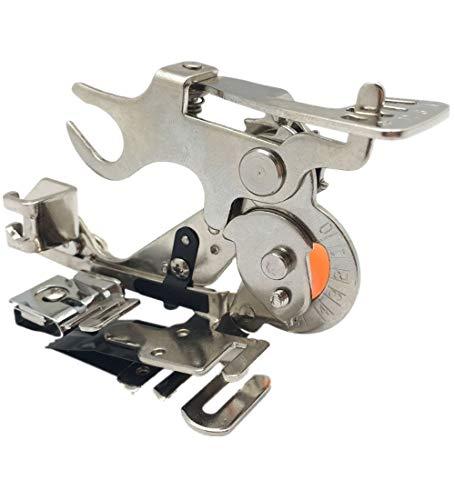 WeFoonLo 1 pieza Ruffler Máquina de coser Accesorio Prensatelas para hermano de vástago bajo, Cantante, Babylock, Casa nueva, Kenmore, Janome, Blanco, Juki