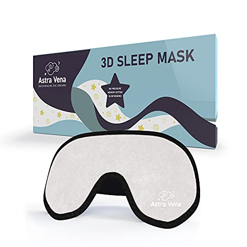 Mega Softe Schlafmaske für Kinder (1 Stk.) I Augenmaske für Mädchen und Jungen I Zu 100{6a94e6d7412995df3654998fed9b677e6b72bd594bdc904baaff6813d094e1b5} Lichtundurchlässige I Atmungsaktiv & Schadstofffrei (Beige)