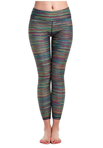 Lotus Instyle Yoga Hose in Regenbogenfarben f¨¹r Damen Trainings Leggings Regenbogenfarbig-S