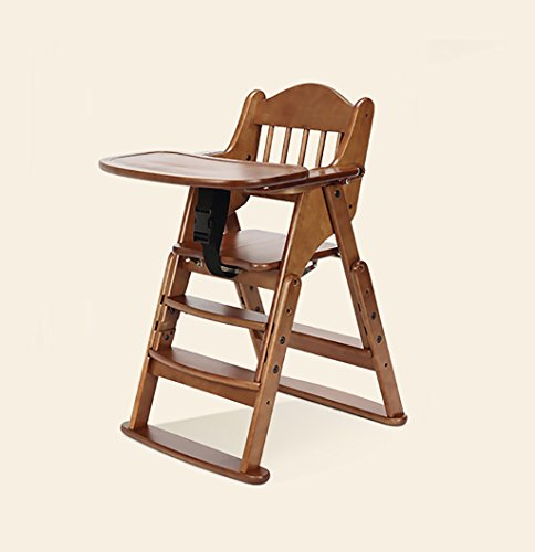 Why Should You Buy HGNbb Dining chair baby dining chair solid wood portable folding multi-functional...