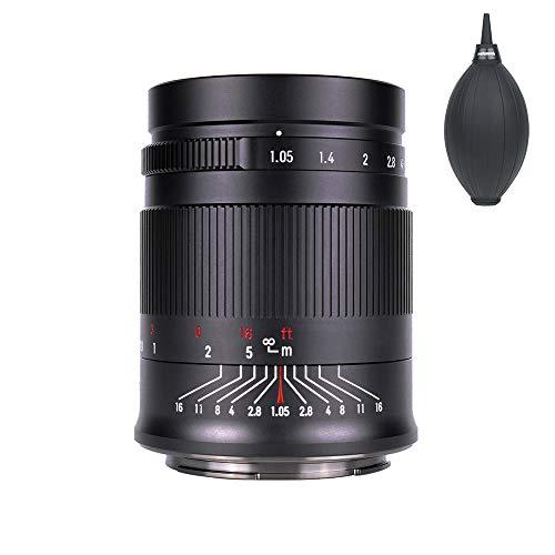 7artisans 50mm F1.05 単焦点レンズ フォーマット 大口径 手動フォーカス交換レンズ ボケ味 レンズエアブロワー同梱 (キヤノンEOSR)