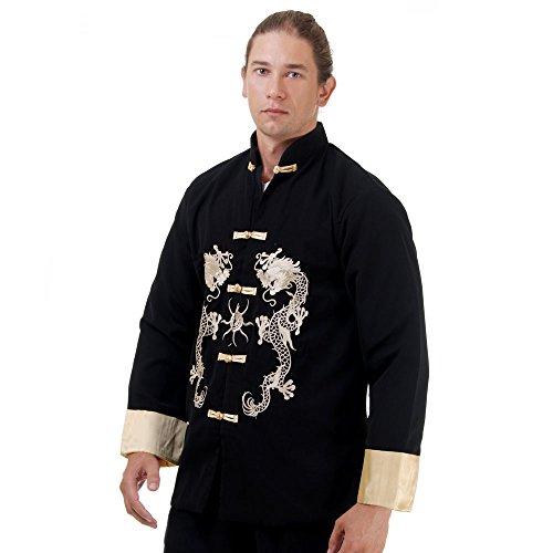 Princess of Asia Kung Fu, Tai Chi & Meditations Jacke Baumwolle Größe XL Schwarz