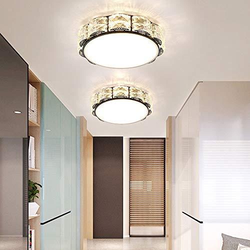 Bxiaoyan Luz de cristal creativa moderna minimalista entrada pasillo focos led luces puerta luces casa