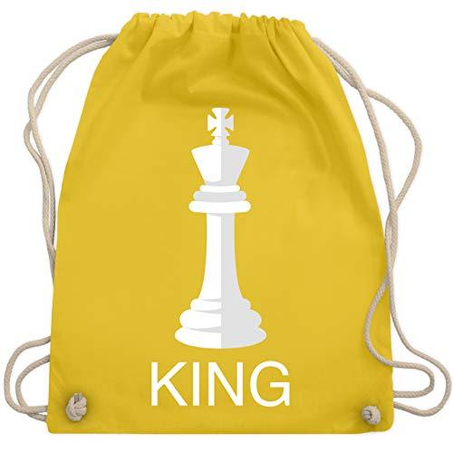 Shirtracer Karneval & Fasching - Kings Schachfigur Karneval Kostüm - Unisize - Gelb - Partner-Look - WM110 - Turnbeutel und Stoffbeutel aus Baumwolle