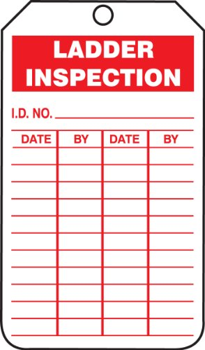 Accuform TRS248CTP PF-Cardstock Inspection Record Tag, Legend