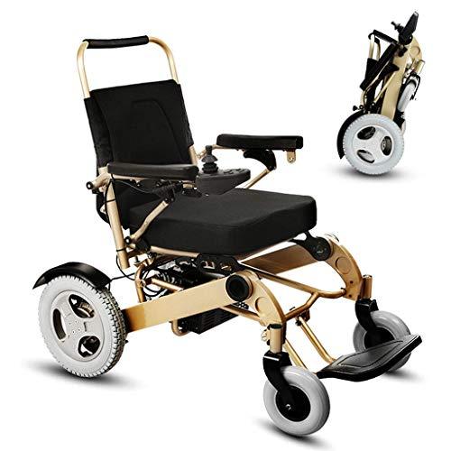 Inklapbare elektrische rolstoel voor ouderen, mobiele elektrische rolstoel voor ouderen, automatische polymeer-ion-accu met grote capaciteit voor handmatige en elektrische schakelaars voor