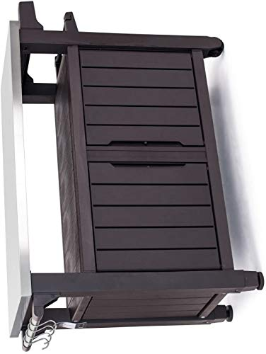 KETER Unity XL Resin Serving Station, All-Weather Plastic and Metal Grill, Storage and Prep Table, 78 Gal, (Espresso Brown (Set of 1))