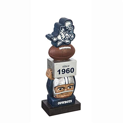 Team Sports America Dallas Cowboys Vintage NFL Tiki Totem Statue