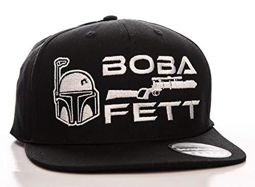 Star Wars Offizielles Lizenzprodukt Boba Fett Einstellbare Größe Snapback Kappe (Schwarz)