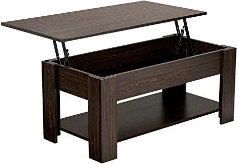 Best Yaheetech Adjustable Lift Top Coffee Table - with Hidden Storage Compartment for Living Room Espress
