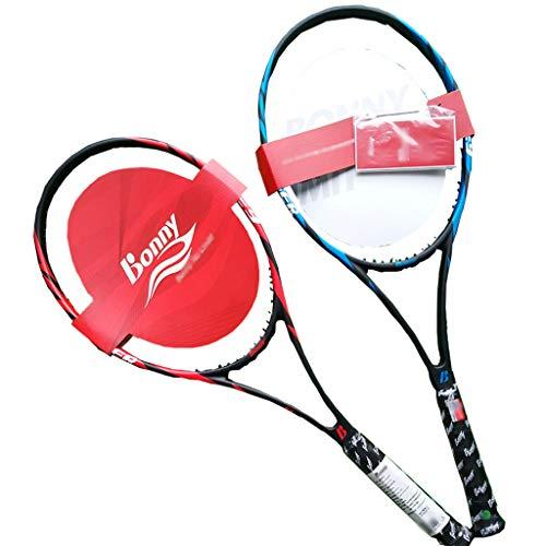 Tennis Rackets Nueva Raqueta de Tenis Profesional de Fibra de Carbono de Acero de Alto Rendimiento de 27 Pulgadas (Aproximadamente 68,6 cm)