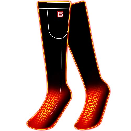 GLOBAL VASION Electric Heated Socks with Rechargeable Battery for Chronically Cold Feet (BlackL)