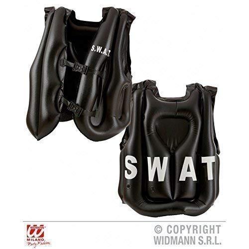 Lively Moments Aufblasbare schusssichere S.W.A.T. Weste / Schussweste für Erwachsene Schusssichere Weste/ Kostüm / Fasching