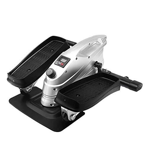 QHGao Ejercitador De Pedales, Mini Máquina Elíptica con Pedal Antideslizante, Monitor De Pantalla Y Resistencia Ajustable, Entrenador De Oficina En Casa Silencioso Y Compacto
