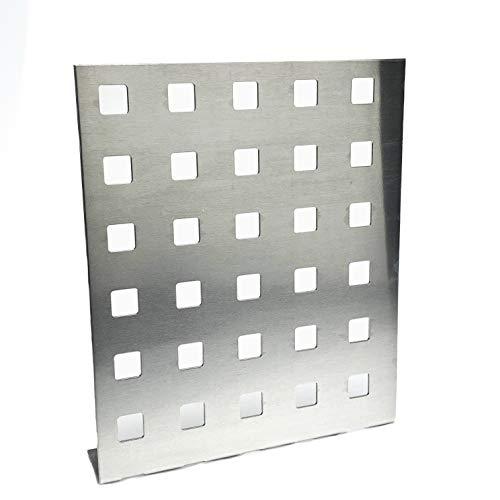 Balkongeländer Füllung Aluminium Lochblech QG20-50 Alu 2 mm dick Balkon Treppen Geländer Füllung Gitter Alublech Zuschnitt nach Maß (1000 mm x 850 mm)