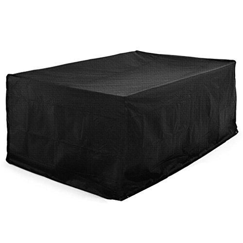 Cubierta cuadrada antipolvo para mesa de patio, cubierta para muebles de exterior, impermeable, 95 x 64 x 39 pulgadas