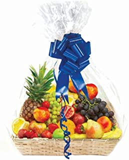 """Clear Basket Bags, Large Clear Cellophane Wrap for Baskets and Gifts 30""""x40"""" (10)"""