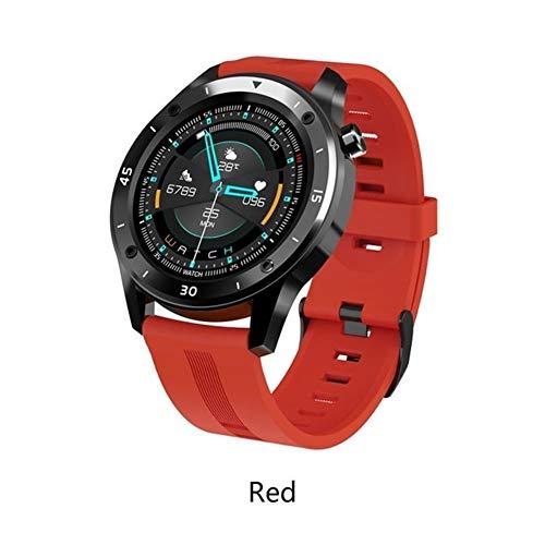 Xingyu 2020 F22 - Reloj inteligente para hombre con rastreador GPS, control Bluetooth, 1,54 pulgadas, frecuencia cardíaca completa, para Android Ios Smartwatch (color: rojo)
