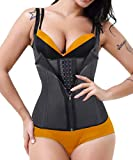 GainKee Clip and Zip Waist Trainer Corset Women Neoprene Worked Out Sweat Vest Body Shaper(2X-Large, Vest) Black
