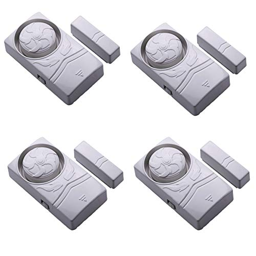 Wireless Home Security burglar alarm, Magnetic Sensor Door Window Alarm, Super Loud 110dB, Pool Door Alarm for Kids Pack of 4
