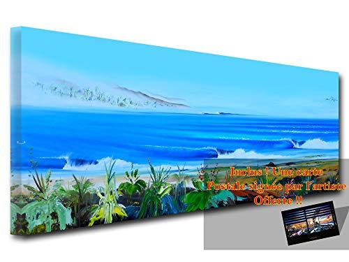 DECLINA grote foto op canvas, kunstdruk op canvas, decoratie voor de woonkamer, modern canvas, reproductie, motief Bertoche Secret Spot, 80 x 30 cm 150x60 cm Meerkleurig