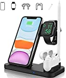 Wireless Charger Stand, DOSHIN 15W Fast Charge Station 4 in 1 Wireless Charging