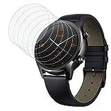 MoKo Pellicola Quadrante Orologio Ticwatch C2/ S2/ E2, Proteggi Schermo in Vetro Temprato 6 Pezzi da 0,33 mm, Sottile Antigraffio Accessori Orologio Protezione Schermo per Smartwatch Ticwatch- Vetro